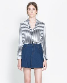 STRIPED SILK SHIRT from Zara - ended up buying it
