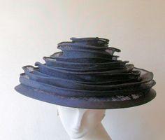 Coutoure Hats: Zoe-draped sinamay bands-made in England English Hats, Royal Ascot Hats, Bar Mitzvah, Bands, England, Top, Clothes, Shoes, Zapatos