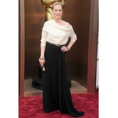 Black and white is a classic combination for any occasion, and Meryl Streep sure knows it.