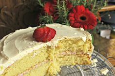 Classic Vanilla Birthday Cake | saraheatsaustin