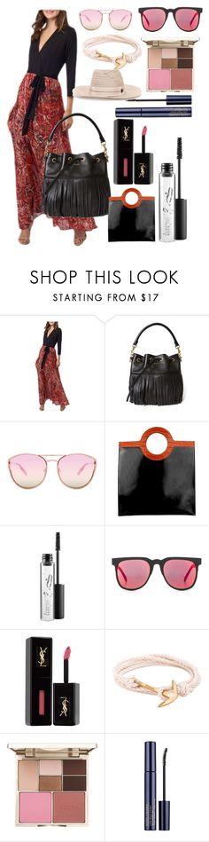 """Be fashion"" by gadinarmada-1 ❤ liked on Polyvore featuring 5twelve, Yves Saint Laurent, Quay, Givenchy, MAC Cosmetics, Komono, MIANSAI, Stila and Maison Michel"
