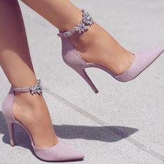 Head over Heels - Sandals Rhinestone Pointed Toe Women's Stilettos Lace Up Heels, Pumps Heels, Stiletto Heels, Women's Stilettos, Heeled Sandals, Glitter Heels, Flats, Frauen In High Heels, Studded Heels