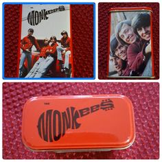 Monkees Metal Tin With Notepads & Pencil Davy Jones Micheal Nesmith Micky Dolenz