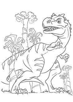 Kids N Fun Ausmalbild Dinosaurier 2 Maiasaurus Ausmalbilder