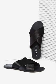 The Fifth Make You Jump Pony Hair Slide Sandal - Sandals