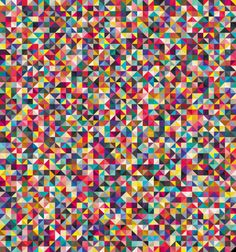 """""""colors + triangles = pattern crush"""" pattern inspiration"""