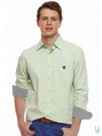#American Swan #Men Port City Java #Green #Shirt @YuvaStyle India