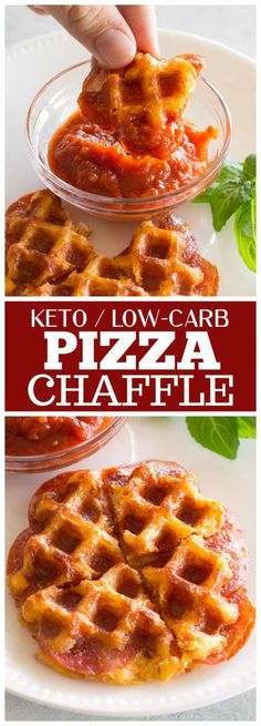 A Pizza Chaffle is a crispy low-carb recipe made with eggs, cheese, and pepperoni. Dip in warm marinara for the full experience. Entree Recipes, Pizza Recipes, Low Carb Recipes, Healthy Recipes, Diabetic Recipes, Delicious Recipes, Marinara Recipe, Low Carb Marinara, Pepperoni Recipes