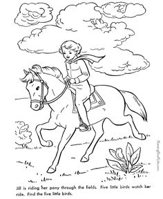 Free printable hidden picture game jill riding