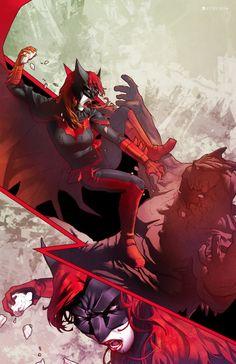 Batwoman - by Jamal Campbell Batwoman, Dc Batgirl, Comic Book Characters, Comic Character, Comic Books Art, Comic Art, Book Art, Character Design, Dc Comics Art