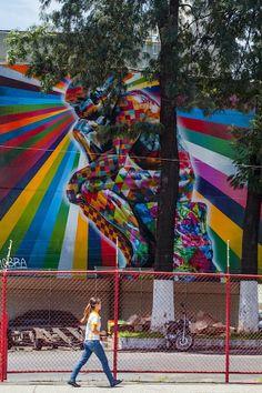 "Streetart: ""The Thinker"" New Mural by Eduardo Kobra in Sao Paulo // Brazil (8 Pictures)"