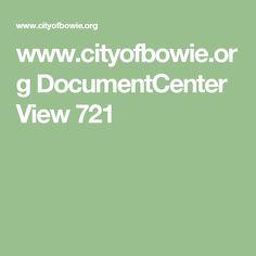 www.cityofbowie.org DocumentCenter View 721
