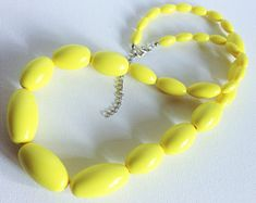 Image result for plastic yellow necklace chunky