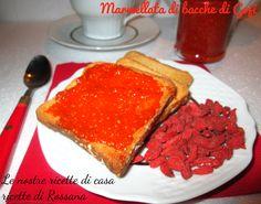 Marmellata di bacche di Goji, la marmellata Red Allrecipes, French Toast, Berries, Homemade, Foods, Breakfast, Desserts, Gastronomia, Canning