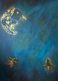 ARTFINDER: C_Space by Komal Madar - C_Space explores the mystery of two worlds- Sea and Space. The different shades of Blues and Greens give the painting a meditative quality and allows the vie...
