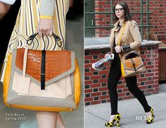 bagfetishperson: Michelle Trachtenberg and Tory Burch 797 Satchel