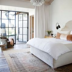 Classic elegant bedroom designed by RSA Associates.