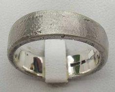 Urban Sterling Silver Wedding Ring   UK Made! Wedding Ring For Him, Cool Wedding Rings, Sterling Silver Wedding Rings, Urban Looks, Handmade Silver, Bracelets, Beautiful, Jewelry, Bangle Bracelets