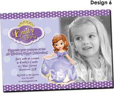 Sofia the First Invitation  Printable by KidsPartyPrintables, $11.99
