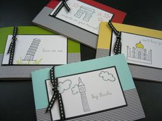 Card Set 4 Cards Greeting Card Set Gift for by apaperaffaire, $8.00