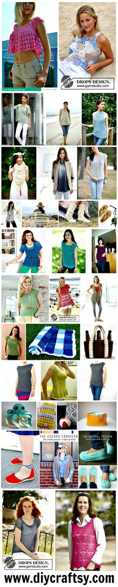 For the beautiful designs and crochet patterns you can visit this round up of 110+ free crochet patterns for summer and spring for the women right here!