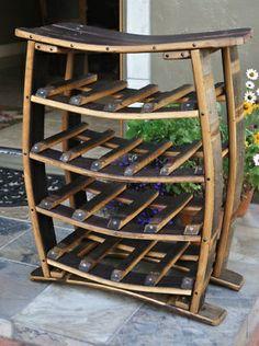 Wine Barrell Staves Wine Rack... I love this!!