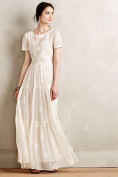 Embroidered Lera Maxi Dress - #anthrofave