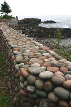 World Ethnic & Cultural Beauties Garden Retaining Wall, Stone Retaining Wall, Gabion Wall, Stone Fence, Retaining Walls, Landscaping With Rocks, Backyard Landscaping, Landscape Design, Garden Design