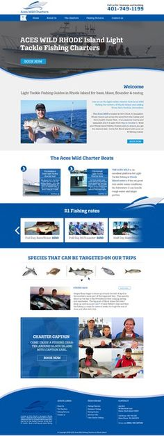 Charter Boat Fishing website design needed by Jasmin_VA