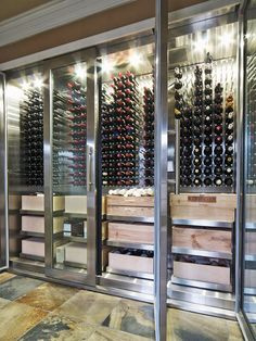 Michael Adamson's cellar might be more accurately described as a large-scale modern wine refrigerator