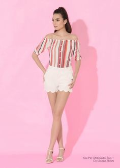 Lookbook - Plains and Prints Happy Skin, Spring Summer 2016, White Shorts, Casual Outfits, Prints, Women, Fashion, Moda, Casual Clothes