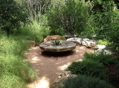 Millstones in the Garden, Thinking Outside the Boxwood, Ten Eyck Landscape Architects, Austin TX