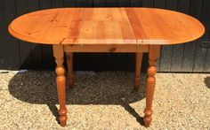 Modern Pine D-End Extending Kitchen Dining Table Extends To Over 4ft Long | eBay