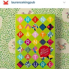 Repost from @laurencekingpub the most awaited new Print & Pattern Nature Book is officially out today -thrilled to be part of it! p. 96-97 Thanks for featuring my pattern on background Laurence King Publishers!  #patterns #nature #printandpattern #prints #fabric #textiles #homewares