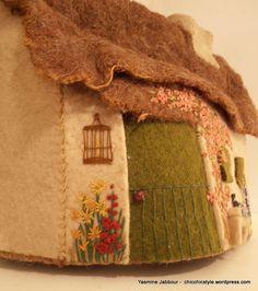 Vintage Tea Cozy 1930s Wool & Felt Embroidered