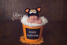 Newborn Cat Hat, Halloween, photo prop