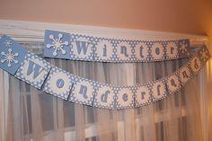 decorating winter wonderland christmas | Winter Wonderland Banner }
