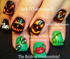 2 Nail Art Tutorials | DIY Easy Halloween Nail Design | Scary Pumpkins +...