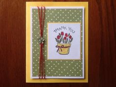 Springy Thank You by proudarmymomof2 - Cards and Paper Crafts at Splitcoaststampers