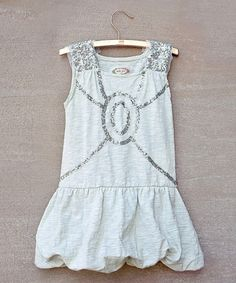 Take a look at this Silver Sabine Bubble Dress - Toddler & Girls by Joyfolie on #zulily today!