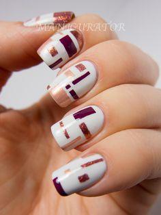 manicurator: De Stijl Inspired Nail Art with OPI Mariah Carey