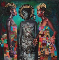 "schenaymosley: "" The beautiful art of Afro, Caribbean Art, Artsy Photos, Black Artwork, Black Artists, Black Women Art, African American Art, Tribal Art, Figurative Art"
