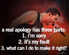 the three parts to an apology