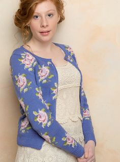 FREE Rowan pattern online: Flower by Martin Storey, made with Rowan Siena 4-ply