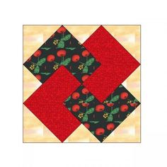ALL STITCHES - CARD TRICK PAPER PIECING QUILT BLOCK PATTERN .PDF -093A