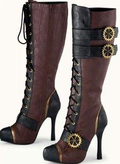 Fashionable steam punk boots