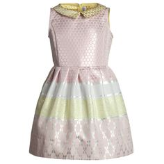 Metallic Pink & Yellow Jacquard Dress - Dresses - Girl | Childrensalon