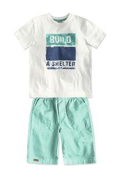 Conjunto Infantil Menino Composto Por Camiseta E Bermuda Enxoval De Menina 5920e39c686