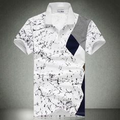 2013 summer new arrival male short-sleeve T-shirt male short-sleeve t shirt paint patchwork t-shirt men's clothing