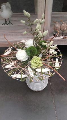 Bouquet décoratif fleurs artificielles réalisé par DK. Février 2017.